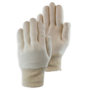 Handschoen Cotton Interlock Ecru Knit Wrist 20-220