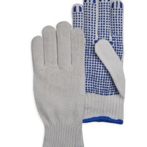 Handschoen Poly Cotton Knitted PVC Dot